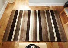 NATURAL STRIPES 100% Wool RUG  Modern Contemporary Design RUG S -M Size 30%OFF