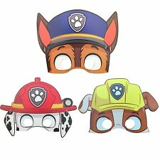 3 Design Paw Patrol Theme Birthday Party Chase Marshall Rubble Paper Mask