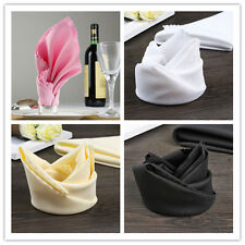 10Pcs Polyester Square Napkins Table Dinner Cloth Napkins Hotel Wedding Decor