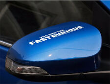 1 pair Reflective rearview mirror stickers for the fast and the furious decals