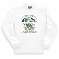 Christian SWEATSHIRT WHEN ALL ELSE FAILS read the instructions HOLY BIBLE