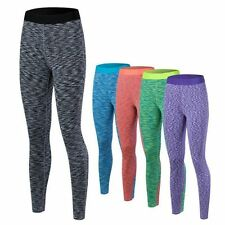Yoga Fitness Pants Exercise Running Quick Dry Elastic Tights Trousers BE