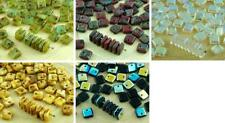 30pcs Flat Square Paillettes Squarelet One Hole Chips Czech Glass Bead 6mm x 6mm