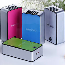 USB Rechargeable Hand held Tabletop Mini Air Conditioner Bladeless Cooling Fan