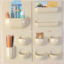 Home Kitchen Bathroom Toothbrush Holder Wall Mount Organizer Rack Holder Stand