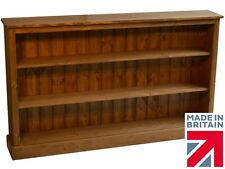 Solid Pine Boston Bookcase, 3ft x 5ft Adjustable Display Shelving Unit