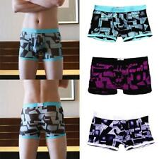 Mens Boxer Briefs Underwear Stretch Fashion Trunk Short Bulge Lot M L XL XXL