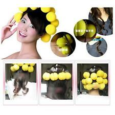Beauty Yellow Red Soft Sponge Hair Care Foam Balls Hair Curler Rollers - 6 Piece