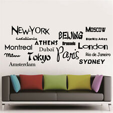 DIY Vinyl Wall Stickers Fashion City Names Words & Phrases Fabulous Home Decals