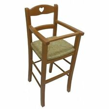 HIGH CHAIR HIGH CHAIR CHAIR STOOL BABY WOOD NUT AND STRAW