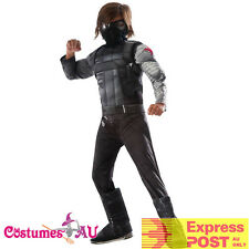 Licensed Kids Deluxe Captain America Winter Soldier Costume Avengers Boys Child