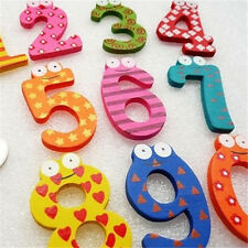 26 Letters/10 Number Wooden Fridge Magnet Sticker Cute Funny Refrigerator Toy
