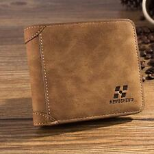 Men Leather ID credit Card holder Clutch Coin Purse Bifold Wallet Billfold Case