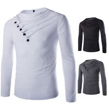 Stylish Mens Long Sleeve T-shirt Slim Fit Casual Tee Shirts New Sweaters Tee Top