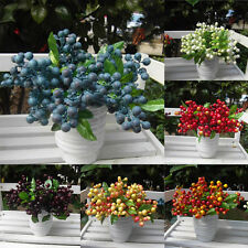 Decorative Blueberry Fruit Berry Artificial Flowers for Wedding Home Decoration