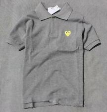 Men's Comme Des Garcons CDG Play Lovely Heart Polo Neck Short Women T-shirts New