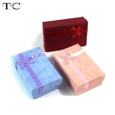 Wholesale 12pcs/lot Necklace Earring Pendant Packaging Gift Jewelry Box Ring Box