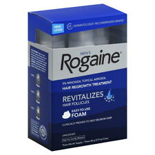 ROGAINE 5% Minoxidil Topical Foam Sealed MENS 3-Months Supply 06/2017