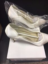 Lucy by Rainbow Club Ivory Satin Mid Heel Wedding Court Shoe RRP £75