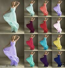 New Formal Wedding V-neck Evening Ball Gown Party Cocktail Prom Bridesmaid Dress