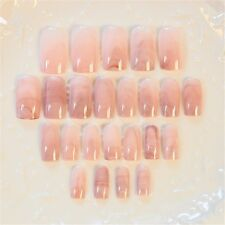 4Style Unique Art False Nails French Manicure Marble Design Full Cover Nail Tips