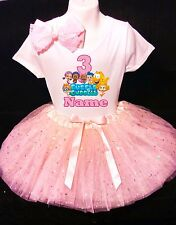 Bubble Guppies 3rd Birthday dress --With NAME-- party Tutu outfit