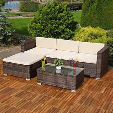 Outdoor Rattan Corner Sofa Set Furniture Couch Lounger Garden Coffee Table Seats