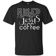 Fueled By Jesus & Coffee Unisex Cotton Graphic Tee
