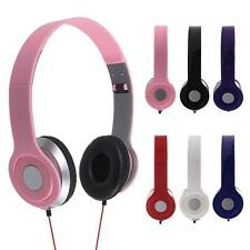 3.5mm Foldable Stereo DJ Style Headphones Earphone Headset Over Ear MP3/4 NEW