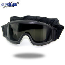 Queshark ES 3 Lens Army Profile NVG Glasses Military Tactical Goggles Protection