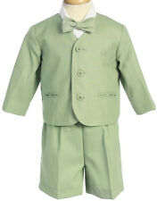 Boys Outfit Sage Green Eton Suit Toddler Lito Wedding Ring Bearer NWT