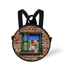 Cat Dog Kid Backpack Women Handbag Cross body Bag for Kid Kindergarten Satchel