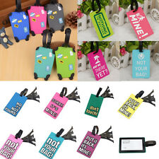 Soul Curly Girl Luggage Tag Travel ID Holiday Suitcase Name Address Bag Label US