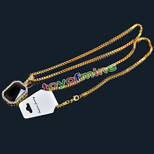 """Hip Hop ICED OUT MINI RICH GANG RED RUBY PENDANT 24"""" ROPE CHAIN NECKLACE"""