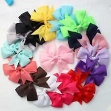 10pcs/lot 8cm Girls Kids Hair Bows Grosgrain Ribbon Alligator Clips Accessories