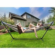 Hammock Swing Outdoor Double Bed Patio Hanging 2 Person Camping Garden Yard