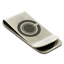 Stainless Steel Cyborg Symbol Money Clip Credit Card Holder