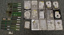 15 HARD DRIVES 20 ram 10 processors FOR SCRAP ONLY gold recovery 17 Lbs