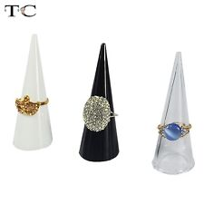 20pcs Plastic Finger Cone Ring Stand Jewelry Display Holder Jewelry Showcase