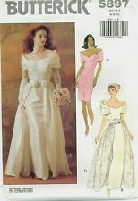 Butterick 5897 Misses Wedding Bridal Bride Detachable Overskirt pattern UNCUT FF
