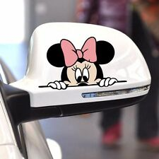 Funny Car Sticker Cute Mickey Minnie Mouse Peeping Cover Scratches Cartoon