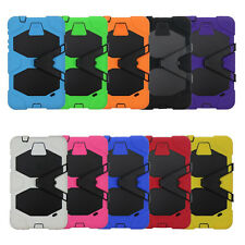 Shockproof Heavy Duty Hybrid Silicone+PC Stand Hard Case For Apple iPad Tablets