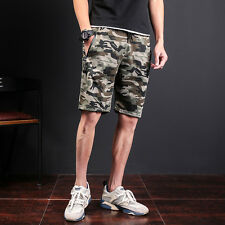 Men's Casual Shorts Sports Loose Camouflage Trousers Jogging Camo Work Pants