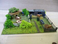 TRACKSIDE DIORAMA OF HORSES AND PIGS  00GAUGE