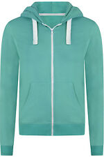 Good Quality Womens Ladies Terry Full Zip Hoodie Sea Green Size S M L XL 2XL