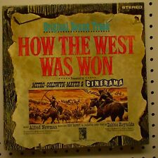 """ HOW THE WEST WAS WON "" Original Soundtrack Record Album MGM 1SE5 on MGM 1963"