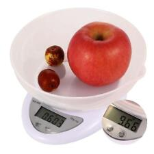 Compact Digital Kitchen Scale Diet Food 5KG 11LBS x 1g w/ Bowl Electronic WeigBE
