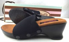 Lexees Sandal Shoe High Heel w/ Topper Brown HH01 New in Box