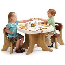 Kids Table and Chair Set Childrens Toddler Activity Plastic Art Picnic Play Desk