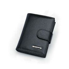 Genuine Leather Expandable Business Credit ID Name Card Holder Case Wallet Purse